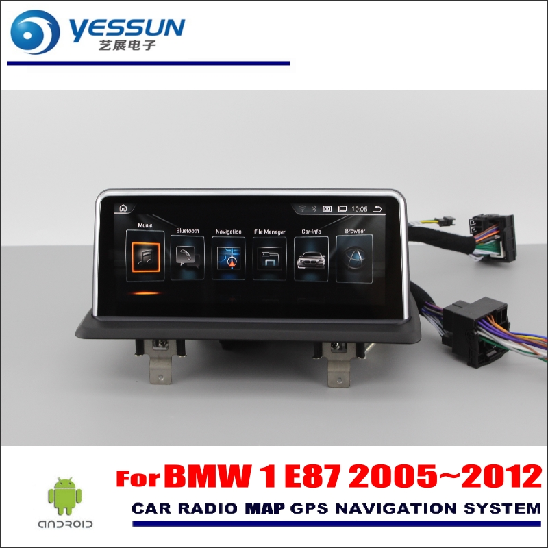 YESSUN 10.25 HD Screen For BMW 1 E87 2005~2012 Car Android Stereo Audio Video Player GPS Navigation Media Navigation No DVD yessun android car navigation gps for hyundai santa fe 2006 2012 audio video hd touch screen stereo multimedia player no cd dvd