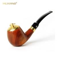 MUXIANG 1Set Dual Purpose Portable Wood Pipe Tobacco for Smoking 9mm Filter Smoking Kit Accessories Cigarette Holder Pipe ap0001