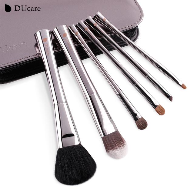 Ducare 6 unids de cepillo del maquillaje cepillos con la bolsa de lujo más agradable y más increíble de pinceles de maquillaje de belleza esencial cepillos