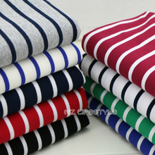 Cotton yarn dyed stripe sweater fabric and sportswear between small scale fabric and cotton high elastic deformation