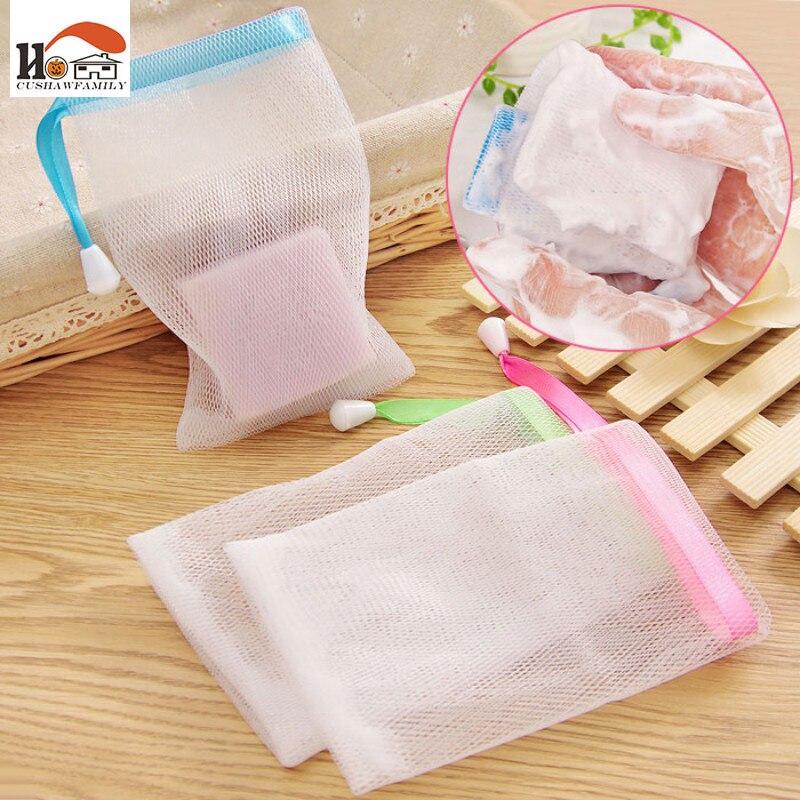 1 pcs New Shower Mesh bag Wash Skin Spa Bath Soap foam Mesh bag Foam Bath Body Massage Cleaning Loofah Scruber