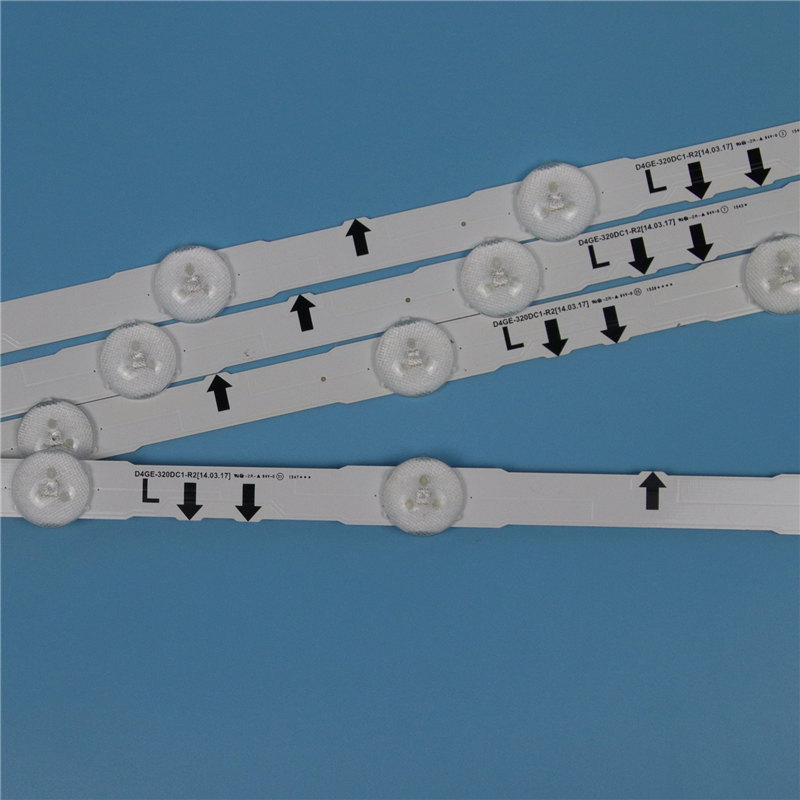 4 Piece LED Array Bars For Samsung UE32H5000AK UE32H5000AW UE32H5000AS 32 Inches TV Backlight LED Strip Light Matrix Lamps Bands