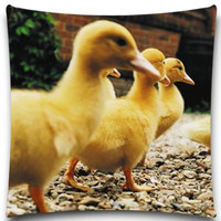 Yellow duck sheep Square Cushion Cover Soft Material For Kids Baby Girl Boy Bedroom sofa car Decor Drop 5 size 9 style