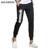 מכנסיים Mens Aolamegs כוכב מודפס שרוך מכנסי טרנינג רצים מכנסי הרמון עיפרון מכנסיים מסלול גברים בגדי האביב מזדמן אופנה