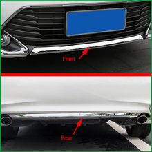 цена на FOR Toyota Camry V55 2015 2016 ABS Chrome Decorative Rear Or Front Bumper Trim Bezel Cover Strip Sticker Car-styling Auto Parts