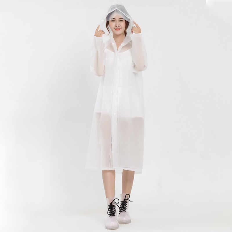 Мода eva женский плащ утолщенный водонепроницаемый дождевик женский прозрачный Кемпинг непромокаемый плащ костюм дождевик