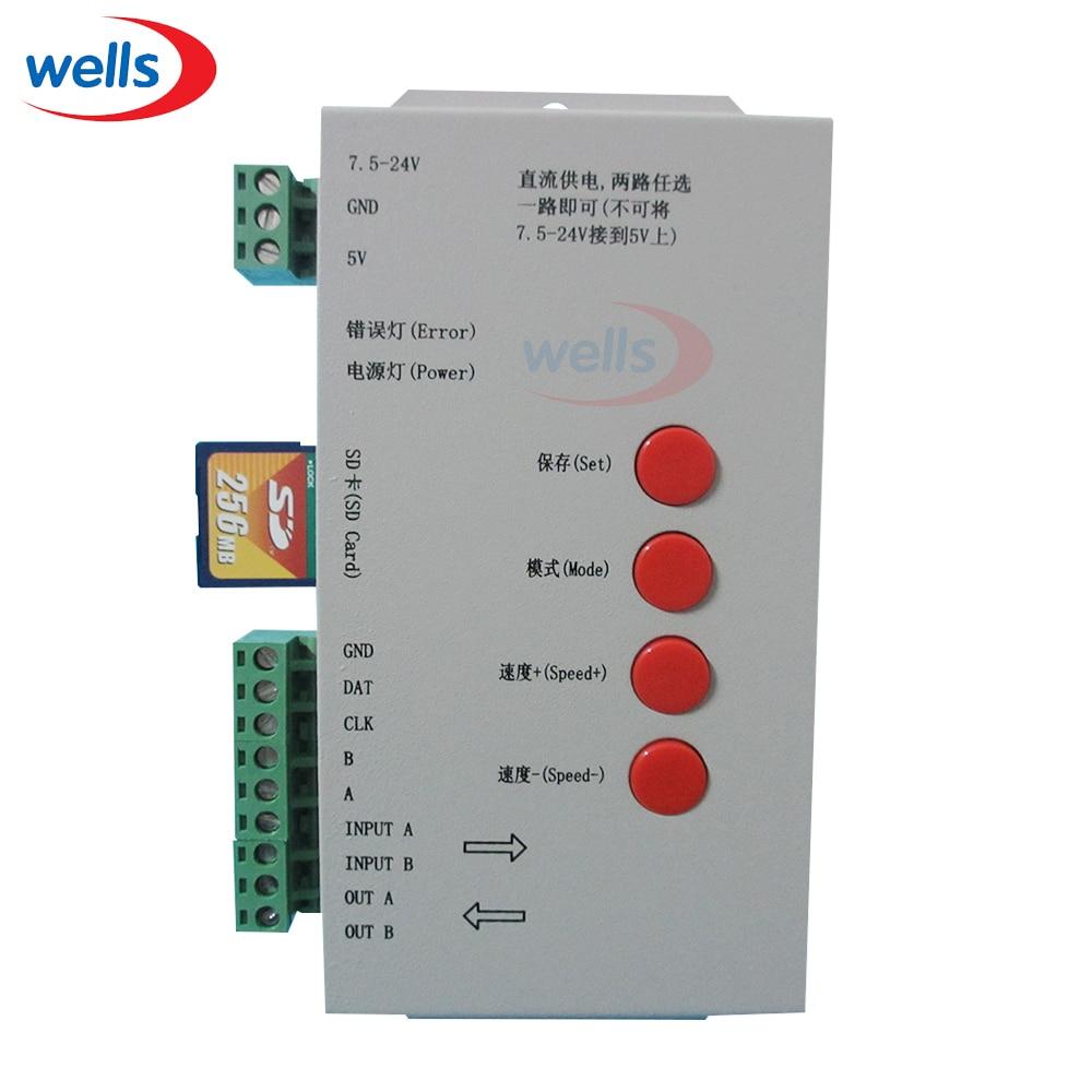Origina DC5 ~ 24V T-1000S SD kartica kontroler za LPD6803 WS2811 - Različiti rasvjetni pribor - Foto 5