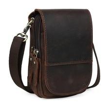 Кожаный поясной рюкзак Tiding для мобильного телефона, простой чехол, мини сумка-мессенджер 3150