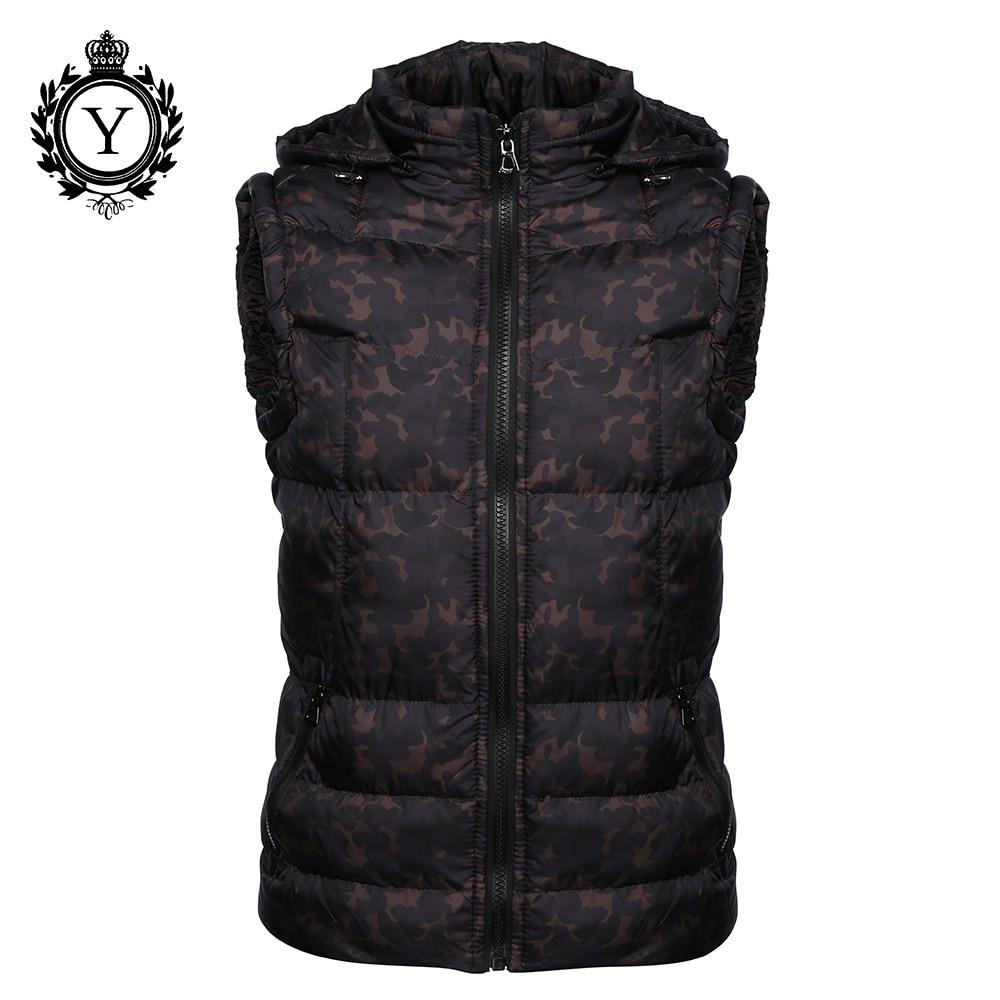 COUTUDI 2018 Мужская одежда Зимний жилет куртки черный камуфляж Толстовка без рукавов куртка пальто Теплый принт хлопок пуховик пальто