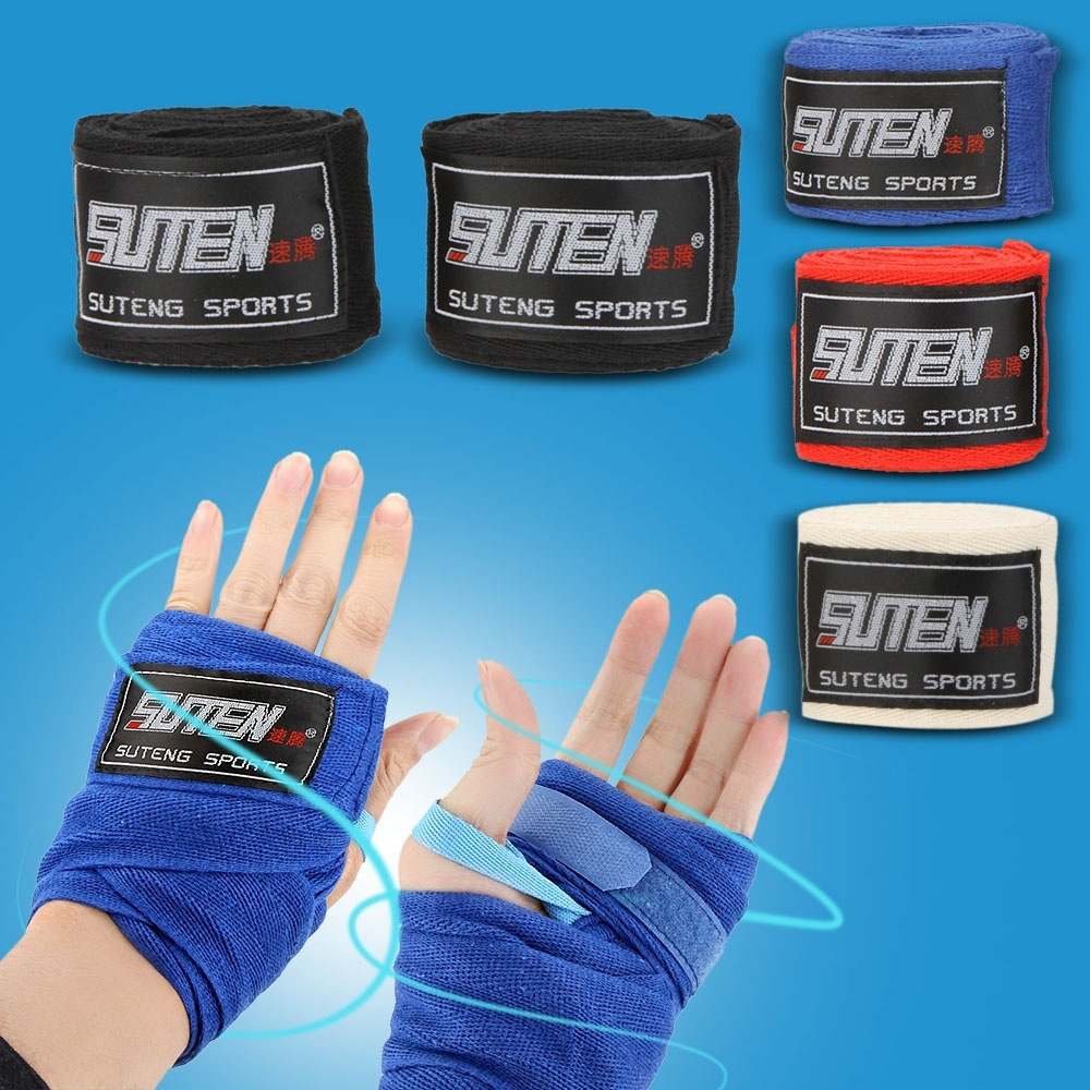 Width 5cm Length 2.5M Cotton Sport Strap Sanda Muay Hand Wraps Boxing 5X
