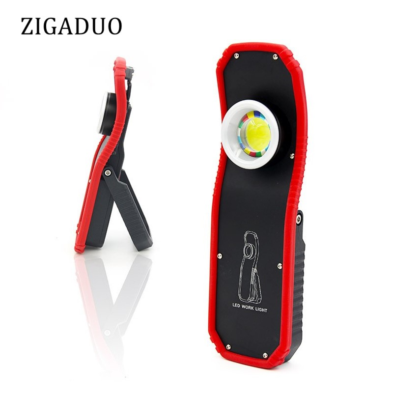 60w Portable LED Work Light Flashlight Torch USB Rechargeable Magnetic LED COB Lanterna Hanging Hook Stand Lamp For Camping 4 in 1 led flashlight magnetic work light rechargeable stand hanging swivel hook rotation power bank torch lamp mfbs