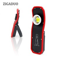 60w Portable LED Work Light Flashlight Torch USB Rechargeable Magnetic LED COB Lanterna Hanging Hook Stand Lamp For Camping