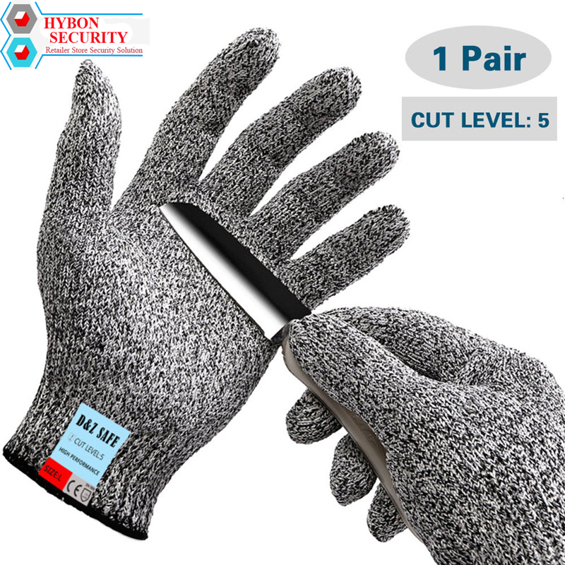 HYBON Anti-cut Safety Work Gloves Exploding Kittens Cut Resistant Gloves ESD Cut Proof Glove For Work Protect Meat Glove