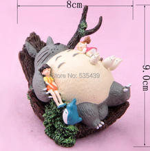 NEW HOT 1pcs 9CM Japanese Cartoon Ha yao Anime Figure My Neighbor Totoro mini figurine Toy