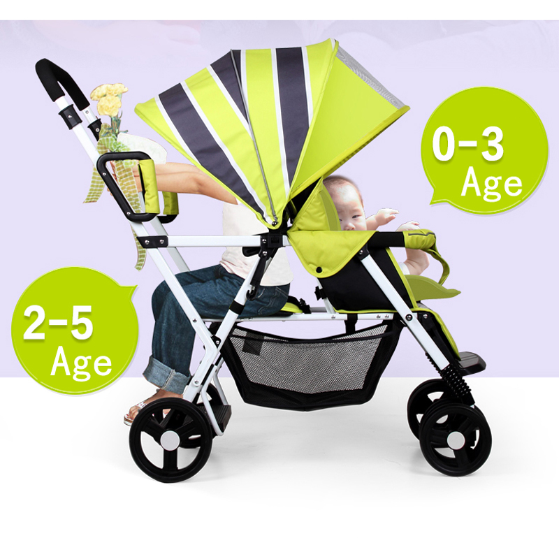 Seebaby Two Children Stroller twins pram twins stroller double stroller super twins stroller carrier pram buggy leader handcart ems shipping