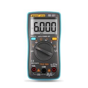 Image 2 - ZOYI ZT101/ZT102/ZT102A Digital Auto Range Multimetro Portatile 6000 conti Retroilluminazione Amperometro Voltmetro di Ohm