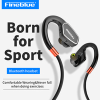 Original Fineblue M3 Professional Running Sport Bluetooth Headset Earphone Handsfree Headphones With Microphone For Mobile Phone