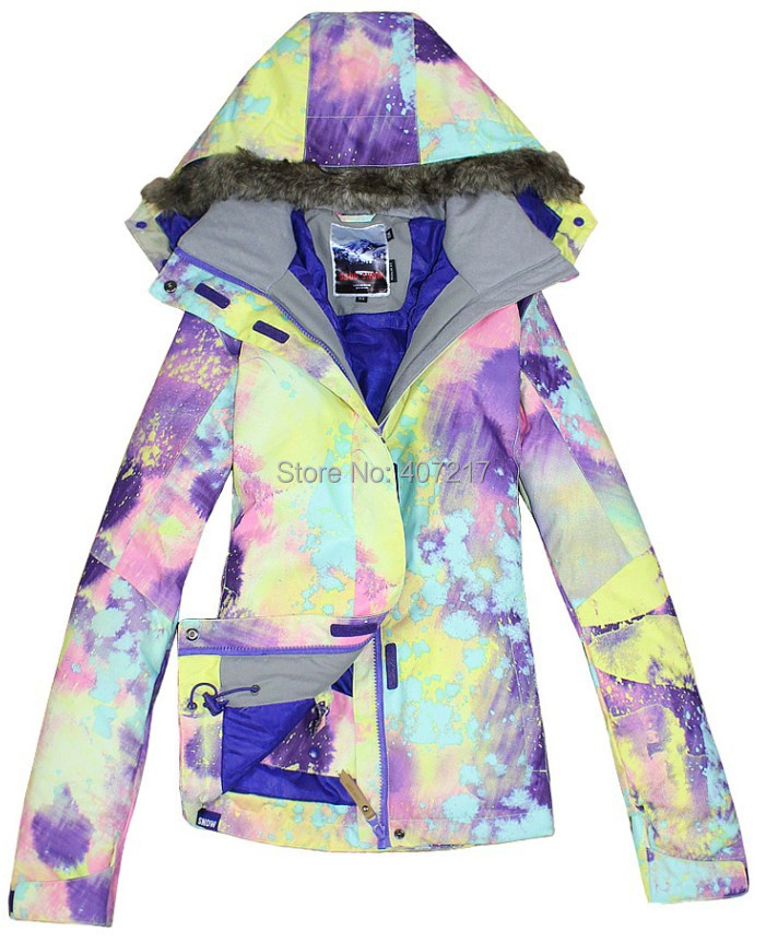 2014 new womens purple yellow illusion ski jacket ladies dream snowboarding jackets skiing jacket for women anorak skiwear alex evenings new purple plum sheer floral lace womens size 6 shrug jacket $90
