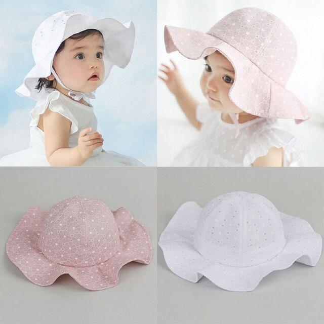 78cf58ba Cute Toddler Infant Baby Girl Hat Outdoor Bucket Hat Sunhat Summer Sun  Beach Bonnet Beanie