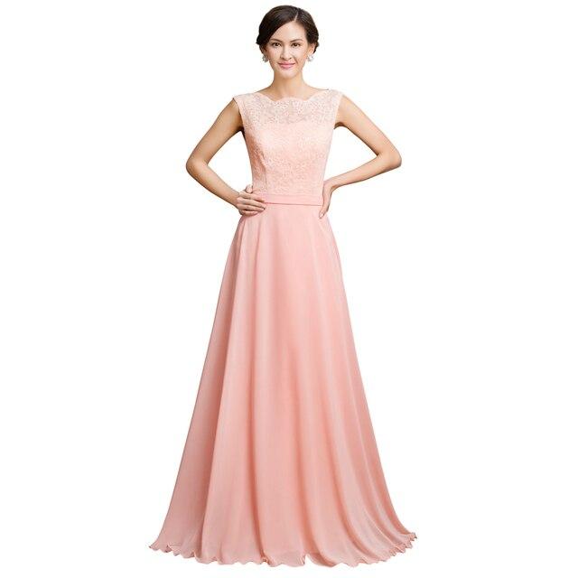 Gracia Karin hermosa longitud del piso vestido Formal largo rosa ...