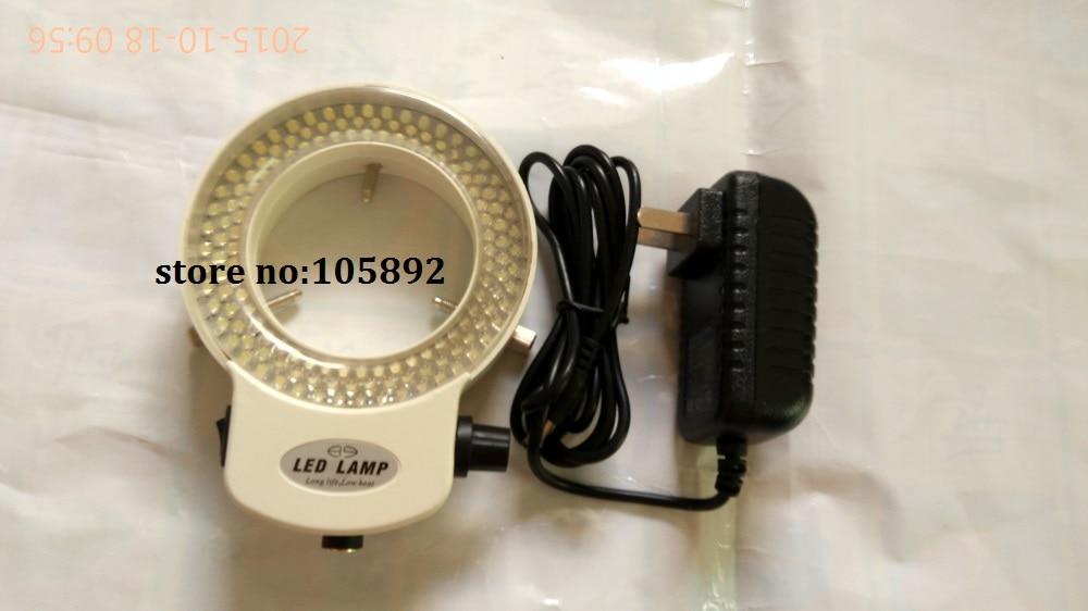 10pcs Adjustable 6500K 144 LED Ring Light illuminator Lamp For Industry Stereo Microscope Digital Camera Magnifier 110V-240V [randomtext category=