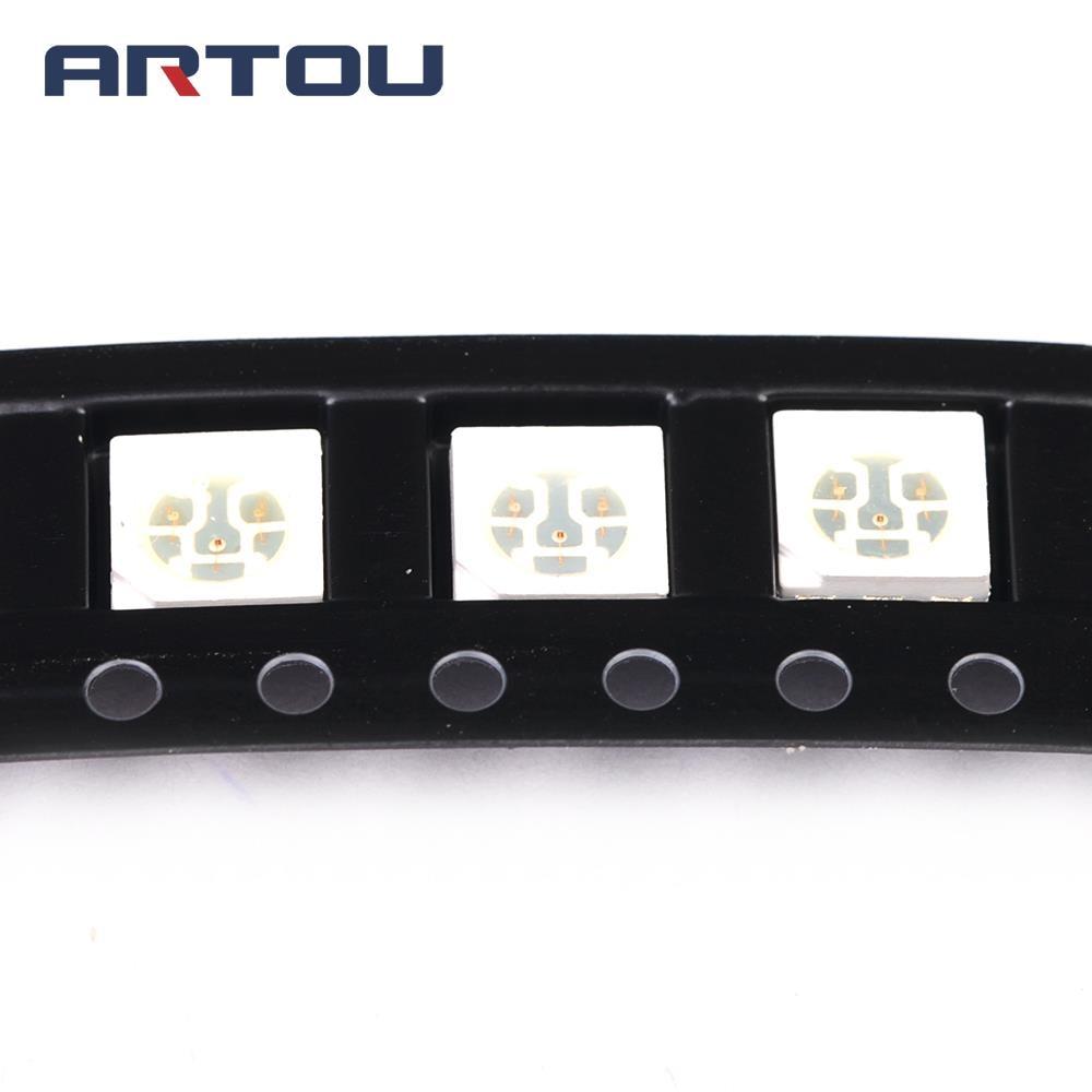 200PCS 5050 RGB LED SMD Ultra Bright Light Diode Lamp PLCC-6 ...