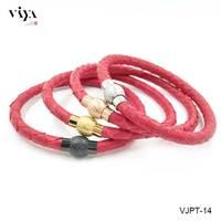 Groothandel Echt Rode Python Lederen Paar Armband Trendy Kerstcadeau Voor Liefhebbers 4 Plated Magneet Gesp Armbanden