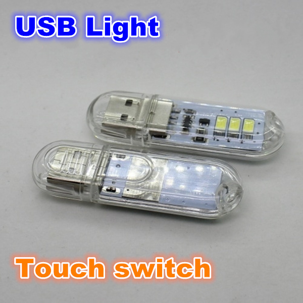 5pcs 3LED usb night light portable mobile power USB lamp for Power Bank Computer Laptop