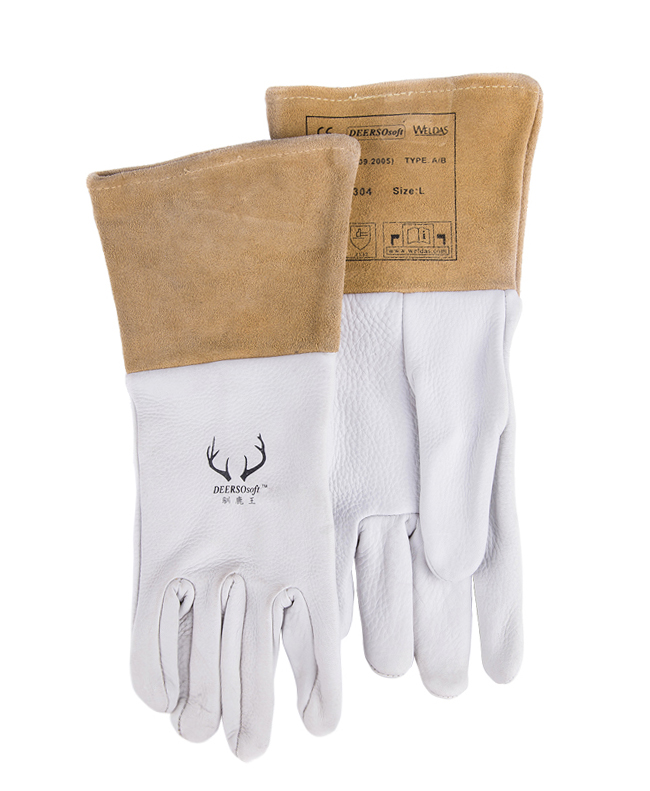 Argon arc welding glove Deerskin Leather TIG MIG welder safety glove carbon half sleeve work gloves leather safety glove deluxe tig mig leather welding glove comfoflex leather driver work glove