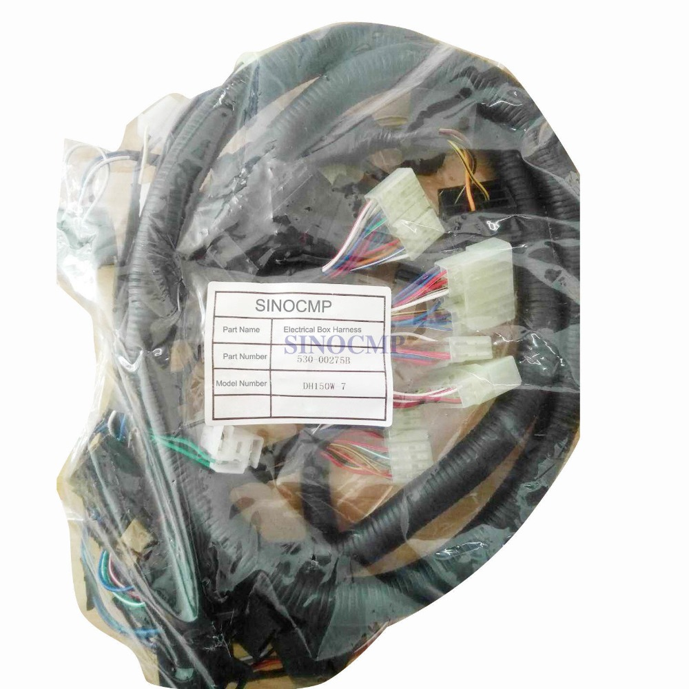 Faisceau de câblage interne de cabine de DH60-7 pour pelle Doosan Daewoo 530-00380B, garantie de 3 mois