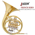 NEW Professional French Horn JAZZOR JZFH-210 4 key brass Horn Single-Row Split B Flat Wind Instruments & French horn mouthpiece