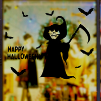 Customized Halloween Decoration Death Evil Spirits Wall Sticker PVC Material DIY Home Decor For Living Room