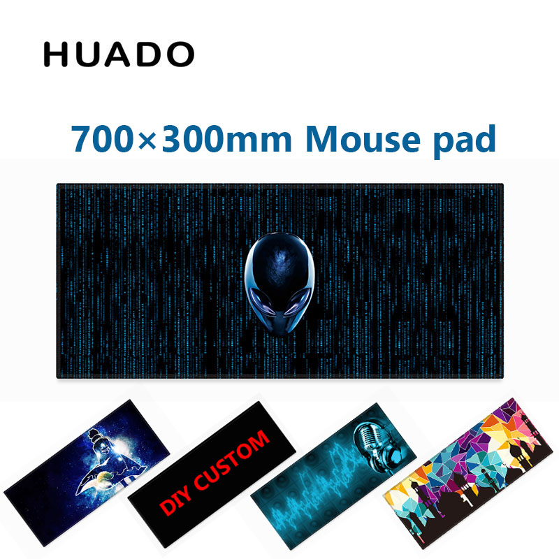 Caucho teclado del cojín de ratón Mat mousepad 700*300mm escritorio para el mundo de los tanques/CS Go /dota 2/steelseries/lol