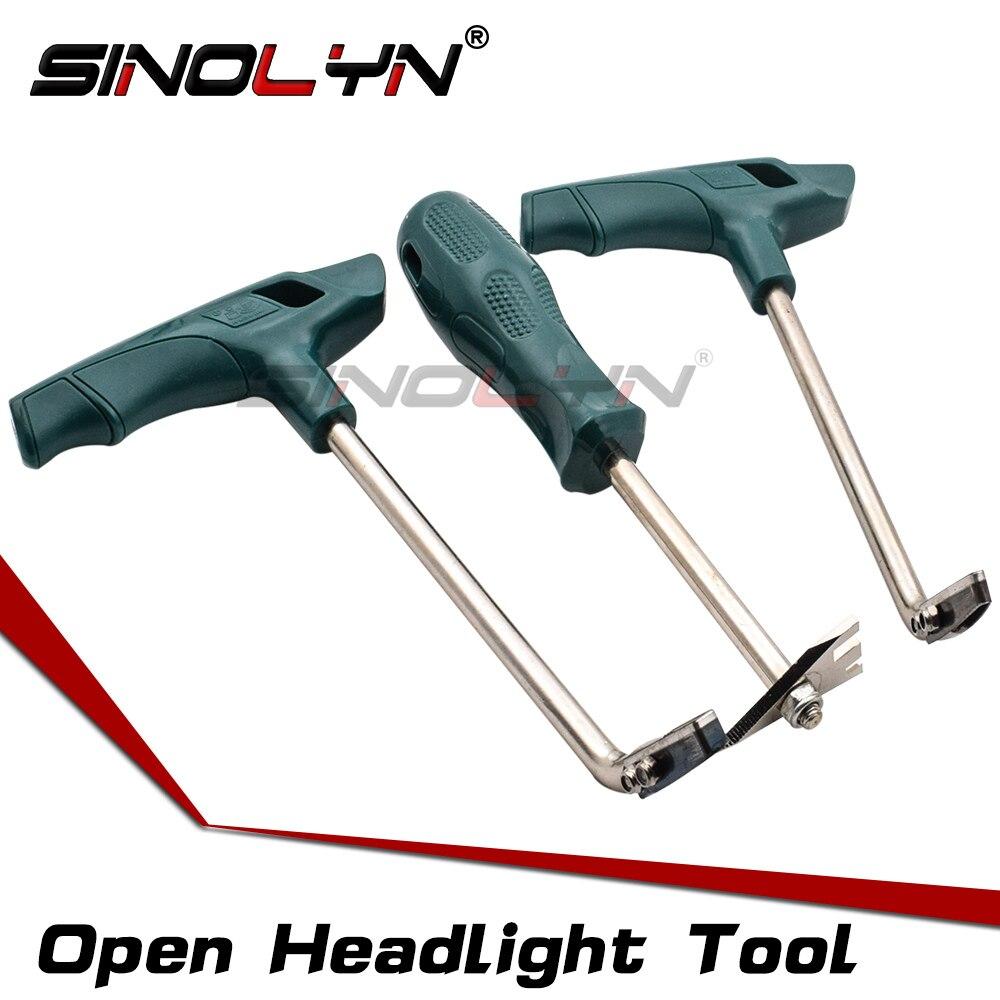 SINOLYN открытым Корпус фар таможенный Permaseal Инструменты для удаления холодный клей нож для удаления расплава герметик из фары автомобиля 3 шт