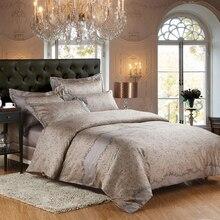 Luxurious bedding set pure egypt Cotton fabric 1000TC Quilt cover bedsheet pillowcase 4pcs bedcover king queen size Home textile