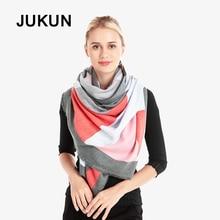 Winter warm scarves imitation cashmere scarf high quality wool shawl geometric lattice scarf support drop shipping стоимость