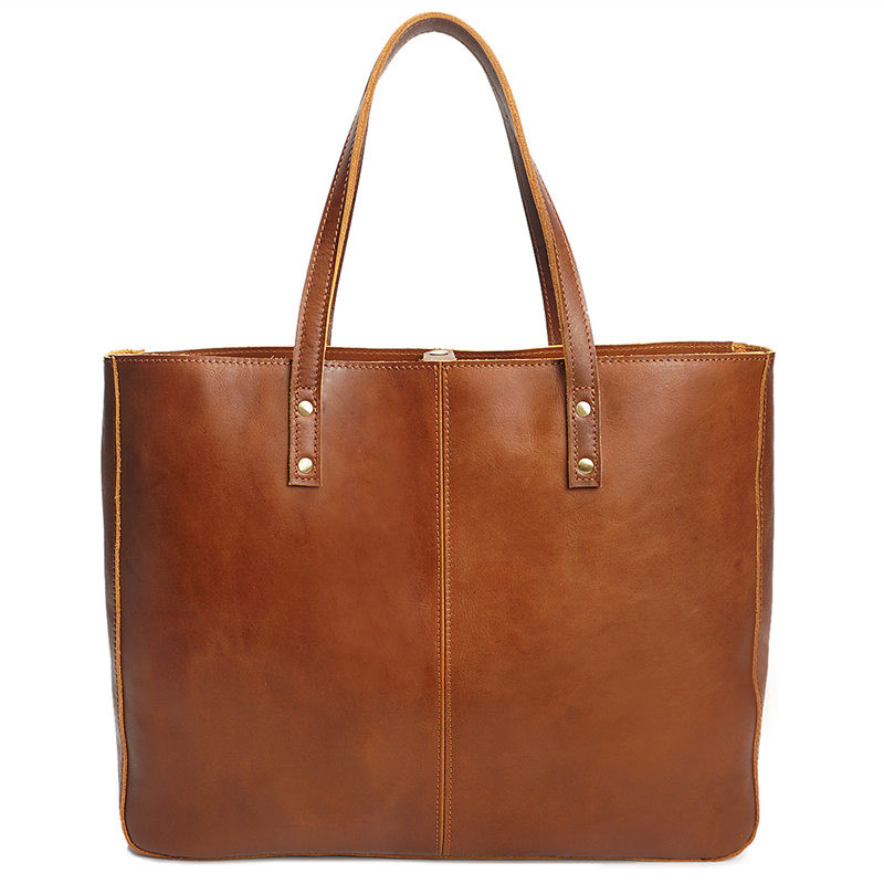 Nesitu Vintage High Quality Large Genuine Leather Women Should Bags Women