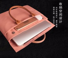 Leather Carry Laptop Briefcase Men's Business Notebook Bag for 13.3 Inch Dell XPS 13 Handbag Portable KUMON Laptop Case Cover(China)