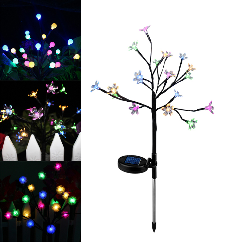 LED Solar Power Tree Light Outdoor Garden Lawn Landscape Lamp 20 LEDs Solar Lamp Patio Christmas Tree Fence Wedding Decoration
