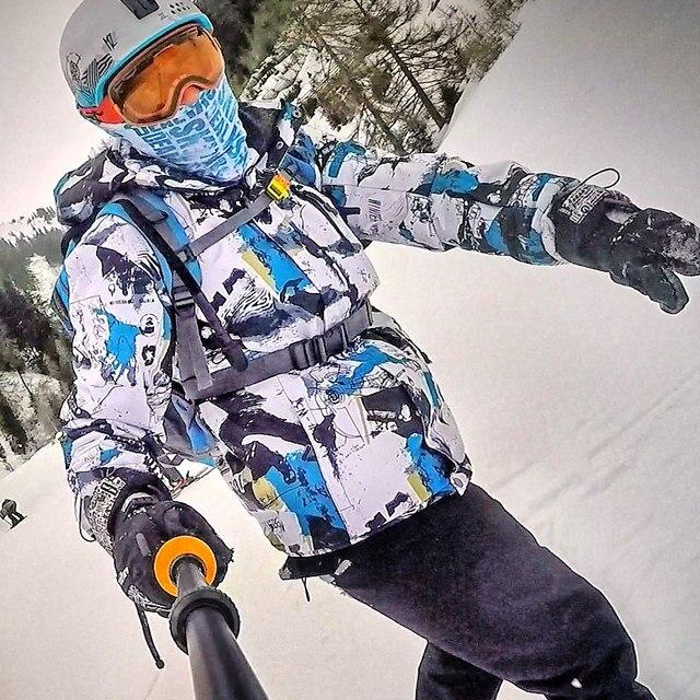 Лыжный костюм мужские брендовые зимние ветрозащитные водонепроницаемые теплые зимние куртки и штаны комплекты Лыжная одежда для катания на лыжах и сноуборде Лыжная куртка мужская
