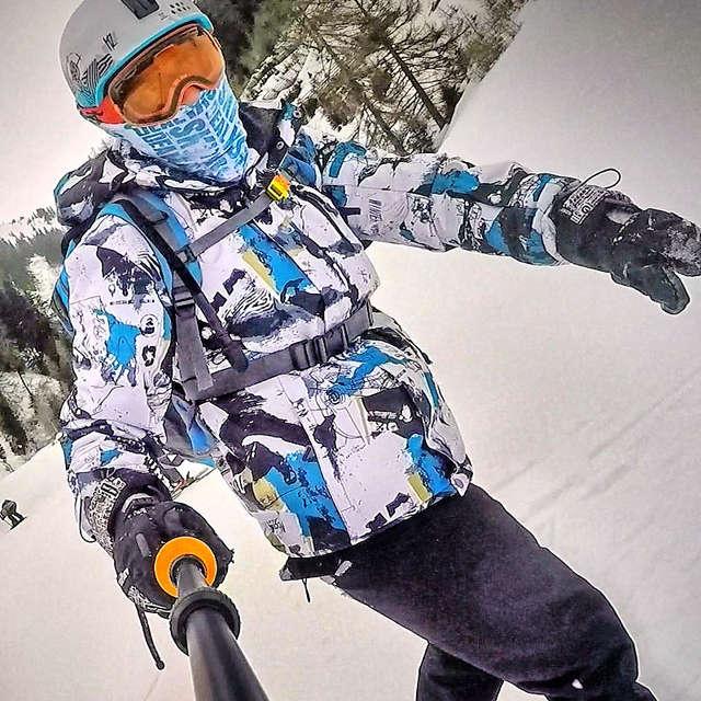 Traje de esquí traje de hombres marcas de invierno a prueba de viento  impermeable térmico nieve f393025116a