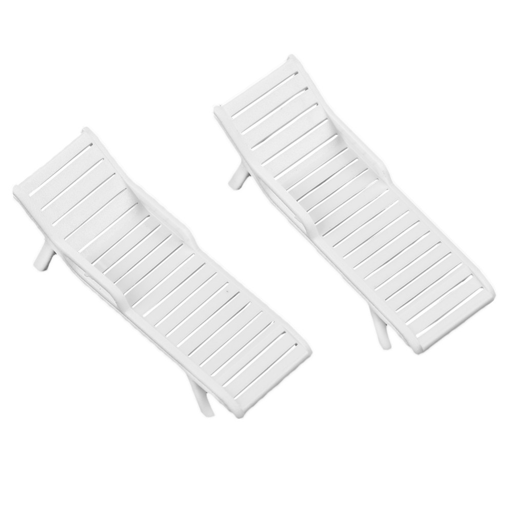 White Plastic Sun Loungers Us 5 23 5 Off 10pcs White Diy Model Railway Layout Sun Loungers Beach Chairs 1 75 Scale New In Model Building Kits From Toys Hobbies On