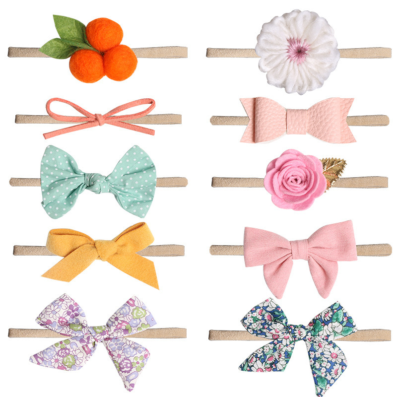 Baby Bows Newborn Girls Flora Headband Boneless Comfort Infant Princess Headdress Infantil Menina Turban   Headwear   Photo Prop