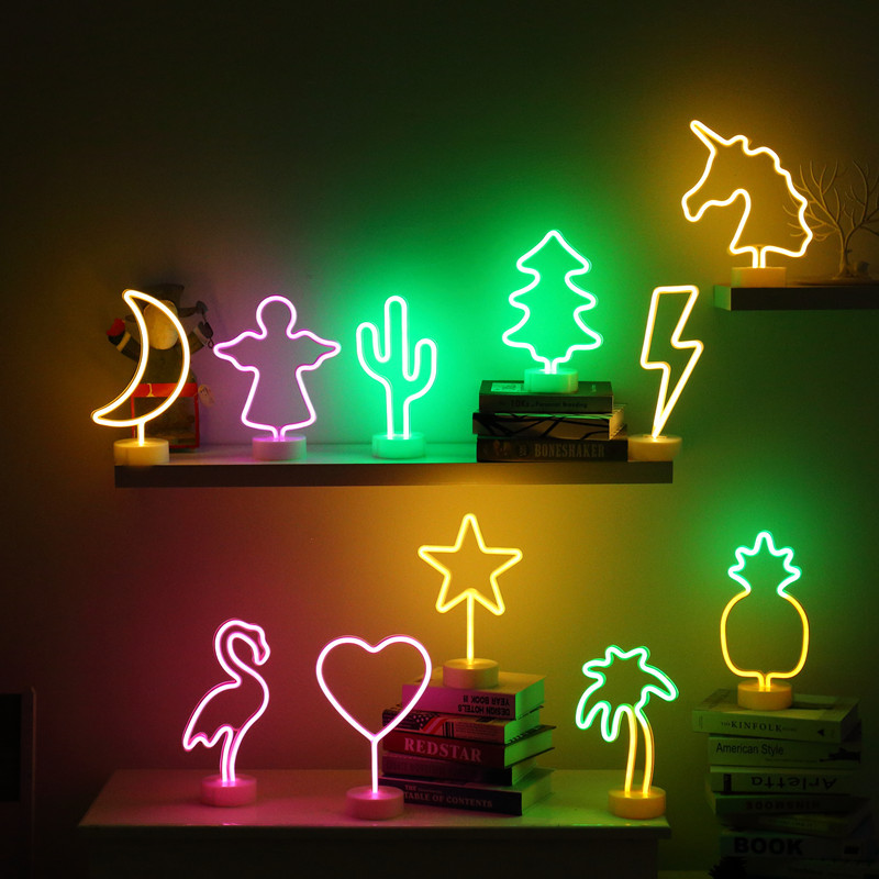 Neon Night Light Led Lamps Signs Marquee Battery