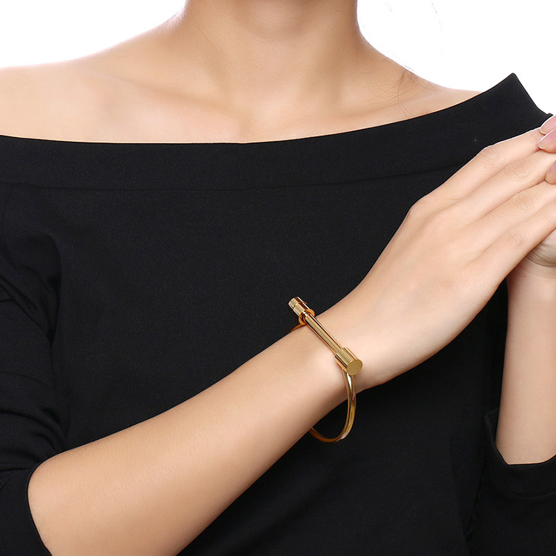 gold head full storenvy bangle rose products bracelet love black original diamonds bangles with and psb silver color stainless ceramics oval screwdriver yellow on steel wi omfee screw