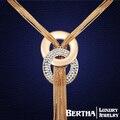 Горячая романтические подвески кисточкой длинное ожерелье цепь с элементами Swarovski кристаллов для женщин Colar колье Joyeria ювелирных изделий