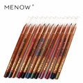 M.n Menow12 Colors silky wood for mix-colored eye pencil Long Lasting Waterproof Eyeliner Smudge-Proof Cosmetic Makeup P14008