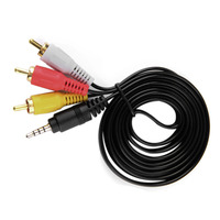 1.5M 1080P HDTV Male to 3 RCA   Audio     Video   AV   Cable   Cord Adapter