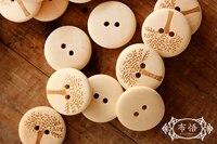 (1 LOT=50PCS )  DIY scrapbook Material Vintage decoration wooden craft Tree button hobby scrapbook accessory