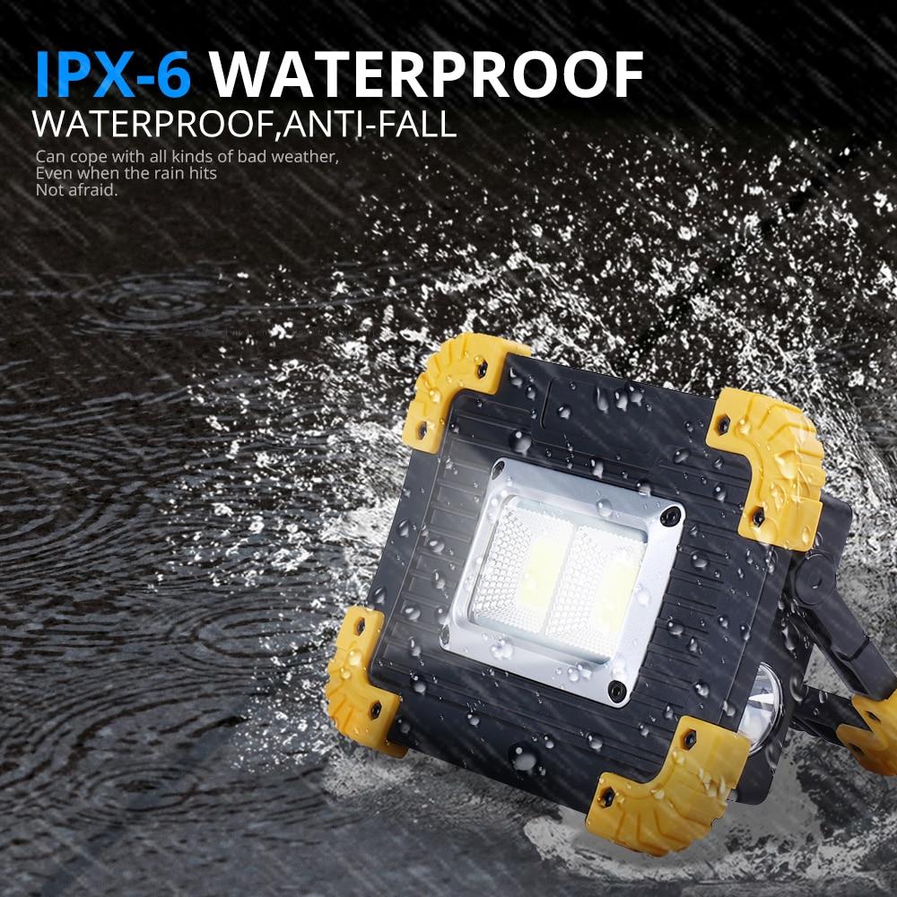 100 w led portátil spotlight 3000lm super